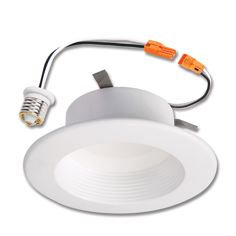 Halo 4 In 5000k Matte White Recessed Integrated Led Retrofit Baffle Trim Return