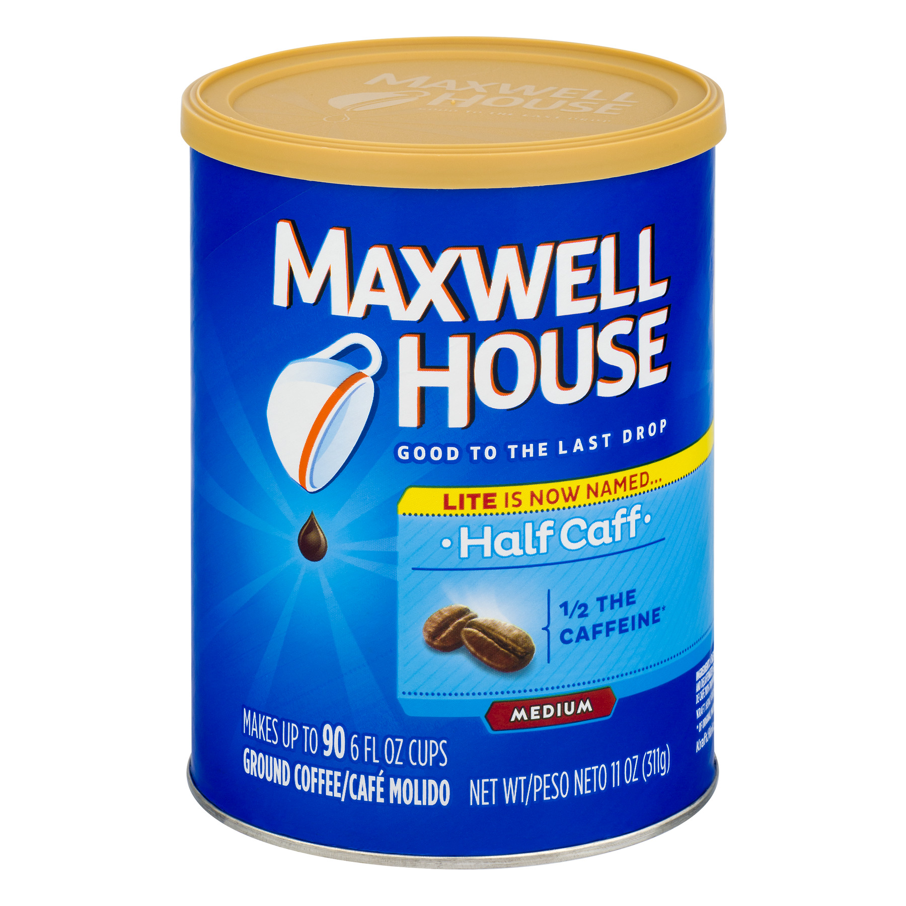 Maxwell House Half Caff Ground Coffee 11 oz. Canister
