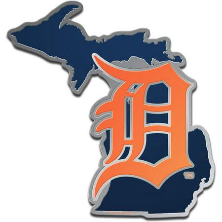 Detroit Tigers WinCraft Metallic State Shape Acrylic Auto Emblem - No