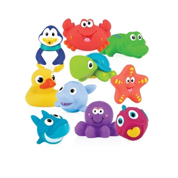 Nuby Little Squirts Bath Squirts, 10 Pack