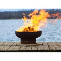Fire Pit Art LB 36 in. Low Boy Wood Burning Fire Pit