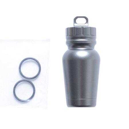 Fancyleo Aluminum Alloy Waterproof Canister Medicine Seal Capsule Bottle Outdoor Camping Edc Tool Waterproof Bottle