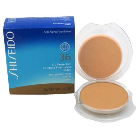 UV Protective Compact Foundation (Refill) Broad Spectrum SPF 36 - Medium Ochre by Shiseido for Unise