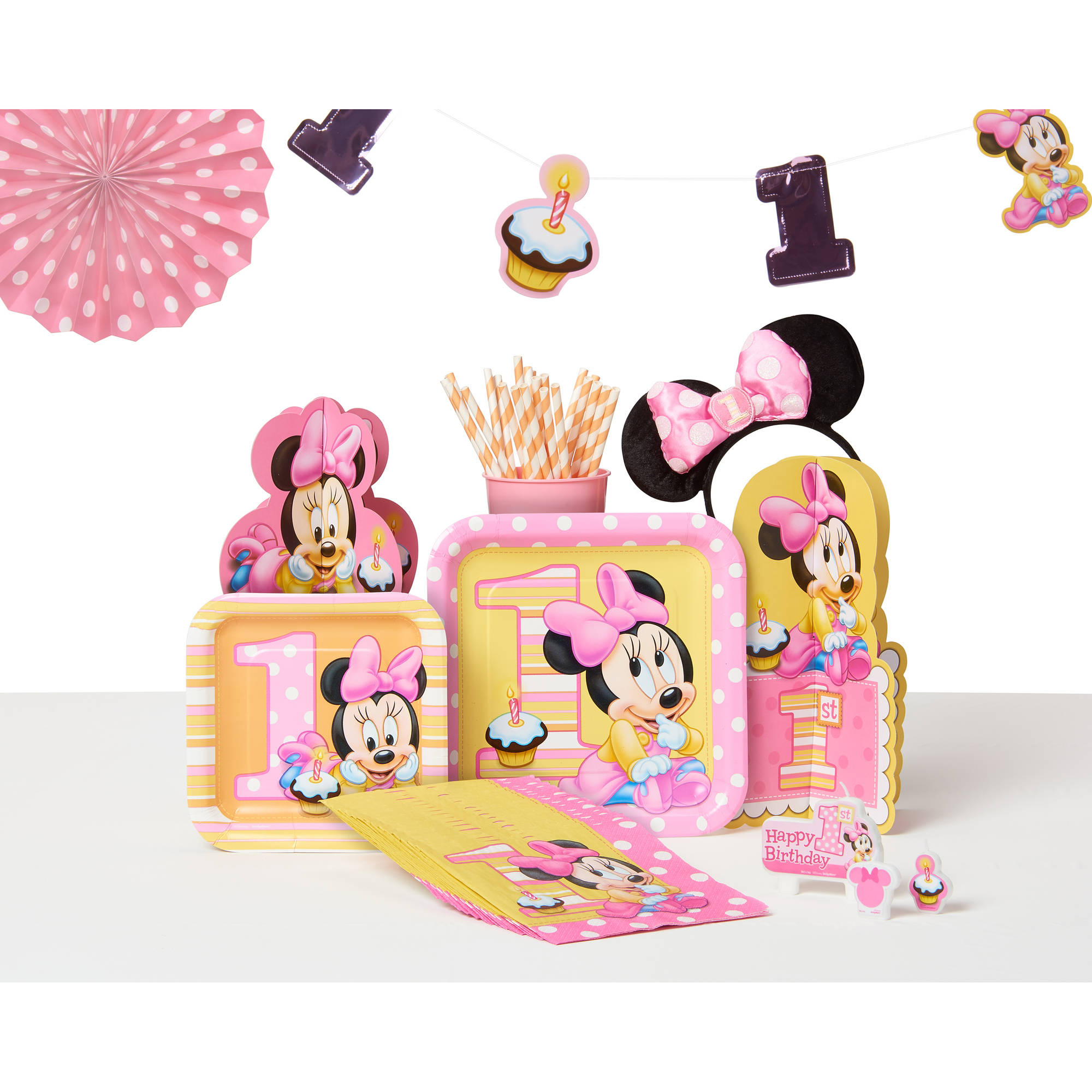 Minnie Mouse First Birthday High Chair Decorating Kit Party
