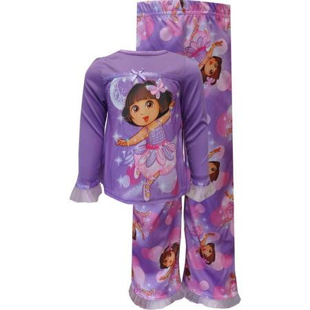 AME Sleepwear Little Girls' - Dora Purple Pajamas](Girls Sleepwear Sale)