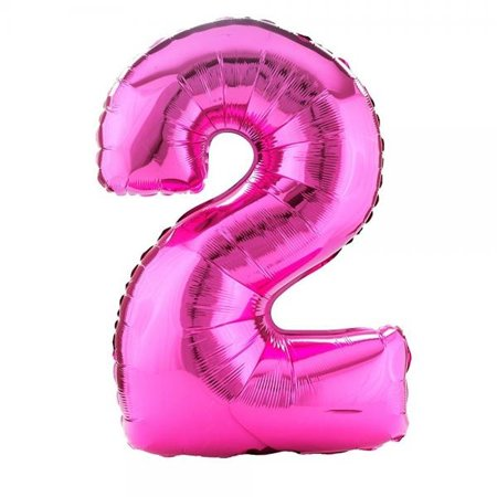 Party Destination 160367 34 in. Pink no.2 Shaped Foil
