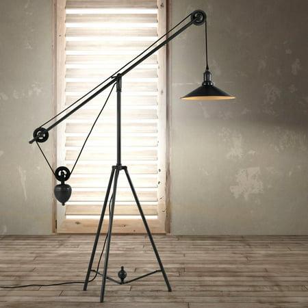 Zuo Modern Jasper Floor Lamp Antique Black Gold