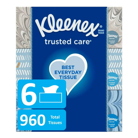 Kleenex Everyday Facial Tissues, 160 Tissues per Flat Box, Pack of - Personalized Tissue Packs