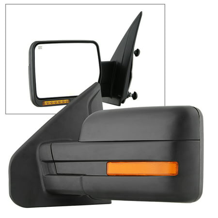 - Xtune Ford F150 07-14 Power Heated Amber LED Signal OE Mirror Left MIR-03349EH-P-L