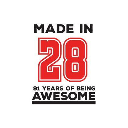 Made In 28 91 Years Of Being Awesome : Made In 28 91 Years Of Awesomeness Notebook - Happy 91st Birthday Being Awesome Anniversary Gift Idea For 1928 Young Kid Boy or Girl! Doodle Diary Book From Dad Mom To Ninety One Year Old Son (Birthday Presents For 28 Year Old Females)