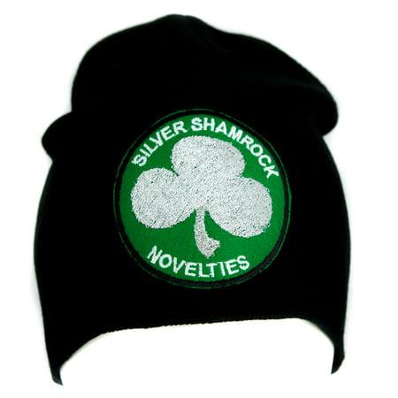 Silver Shamrock Halloween III Beanie Alternative Clothing Knit Cap Season of the Witch - Halloween Song Silver Shamrock