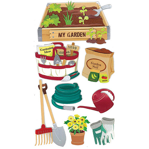 Jolee's Boutique Dimensional Stickers, Gardening