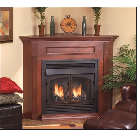 Standard Corner Cabinet Mantel EMBC11SW with Base - White