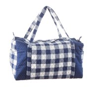 Darice Gingham Duffel Bag: Navy, 20 x 15 inches