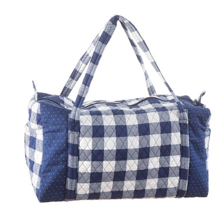 20 Inch Weekender - Darice Gingham Duffel Bag: Navy, 20 x 15 inches