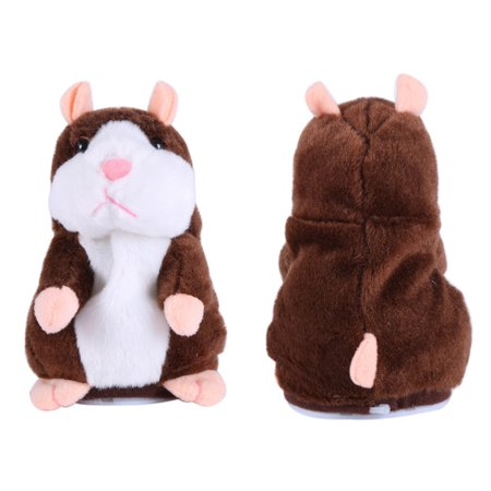 Talking Hamster, Repeats What You Say Plush Animal Toy Electronic Hamster Mouse for Boys, Girls & Baby Gift (Boy Hamsters)