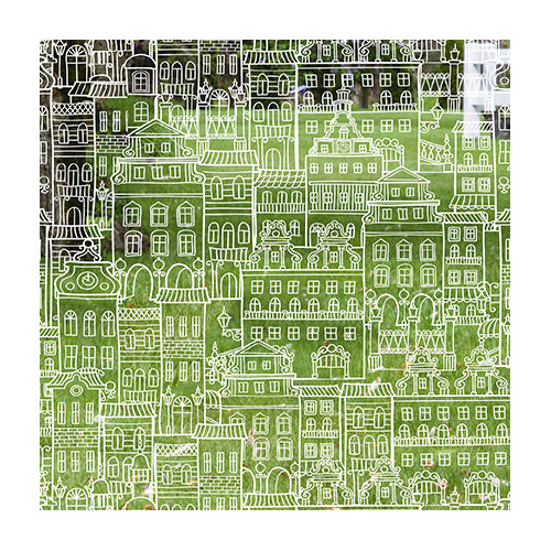 Stick Pretty Little City Decorative Window Film