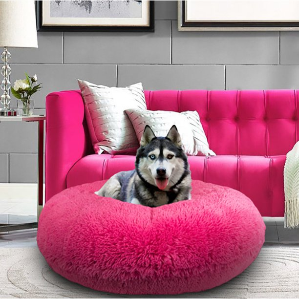 Bessie And Barnie Signature Lollipop Luxury Shag Extra Plush Faux Fur Bagel Pet Dog Bed Walmart Com Walmart Com
