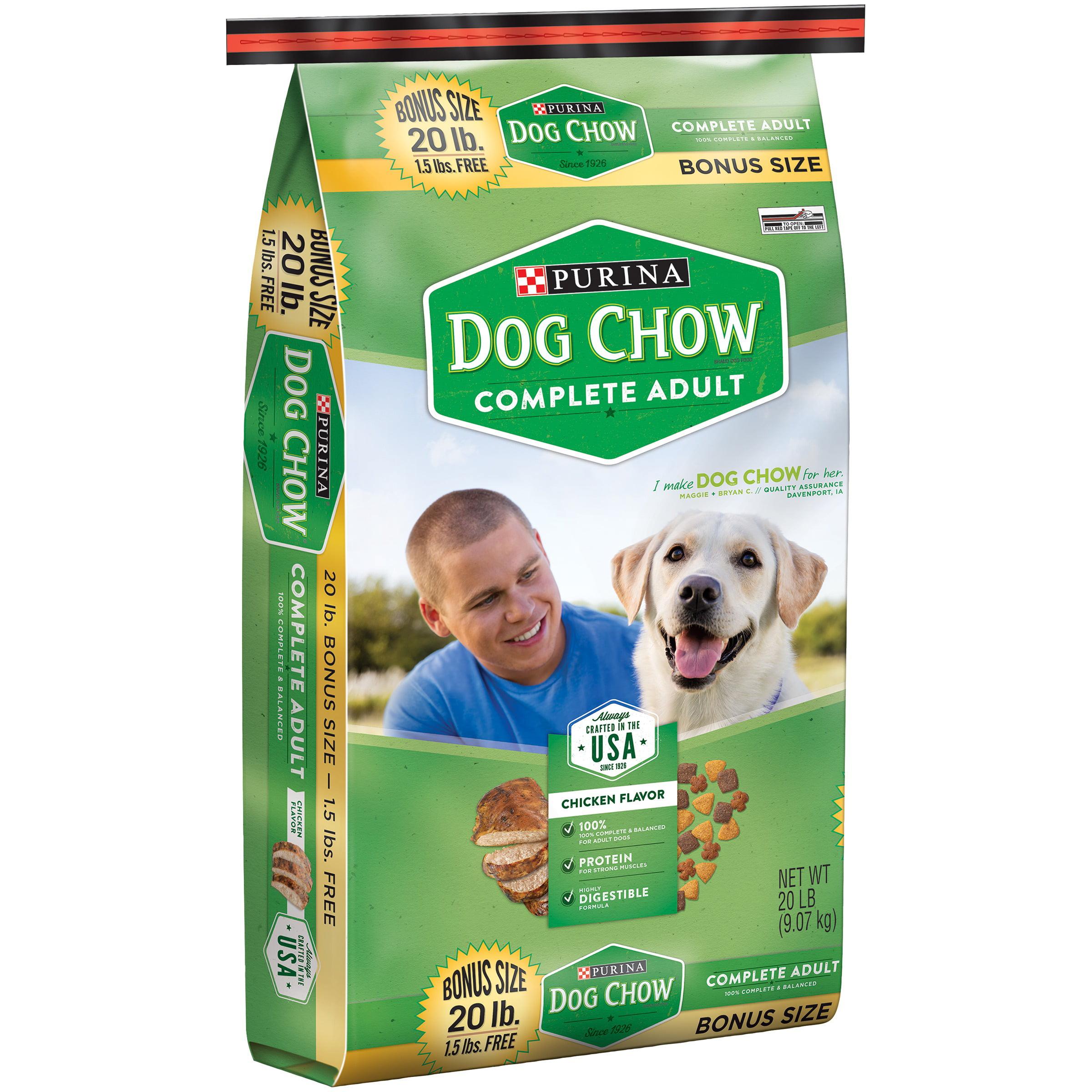 Purina Dog Chow Complete Adult Dog Food 20 lb. Bonus Bag