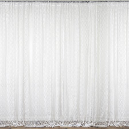 Lace Decorations (Efavormart 2 PCS 5FT Fire Retardant Sheer Lace Curtain Panel Backdrop For Window Wall Decoration - Premium)