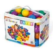 Intex Fun Ballz 100 Multi Colored 3 inch Plastic Balls for Ages 2 and up