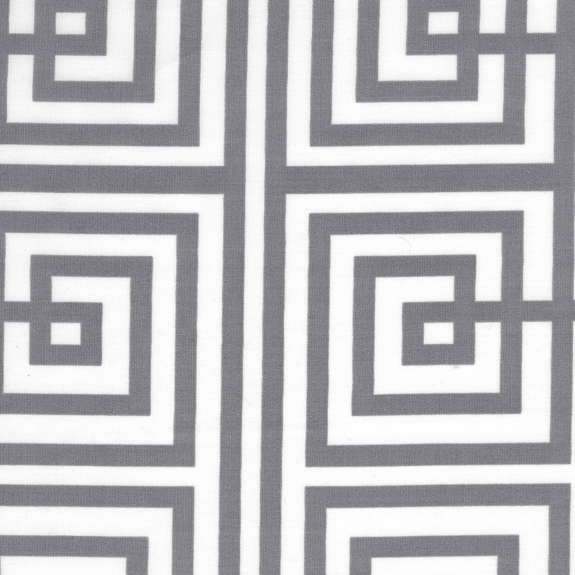 Shason Textile Craft Projects Poly Cotton Geometric Print Fabric, 3 Yards Cut