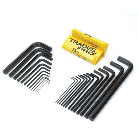Trades Pro 25 Piece Hex Key Allen Wrench Set - (Allen Key Type)