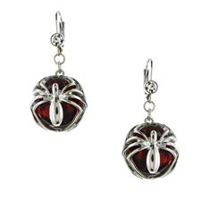 Spiderman Red Stone Earrings](Spiderman Jewelry)