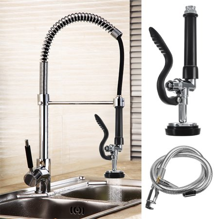 Commercial Restaurant Pre-Rinse Kitchen Faucet Tap Sprayer Spray Head With  Hose