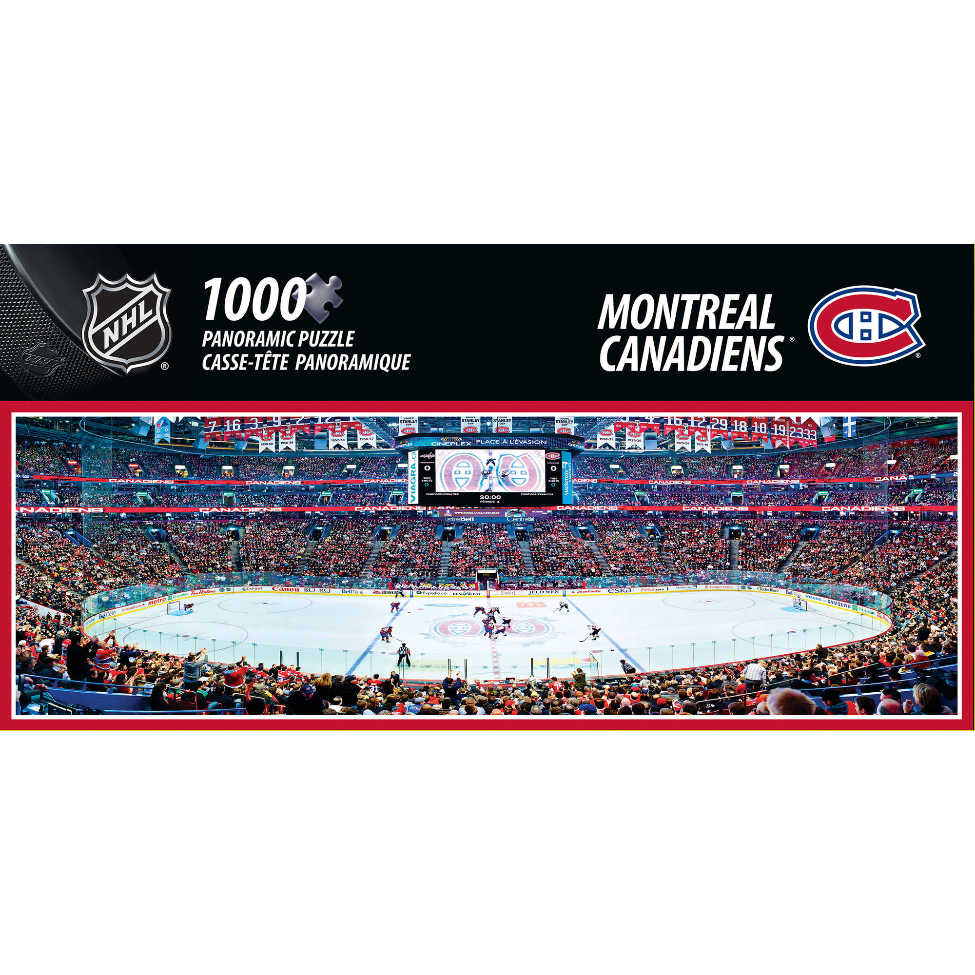 MasterPieces NHL 1000-Piece Panoramic Montreal Canadiens Puzzle