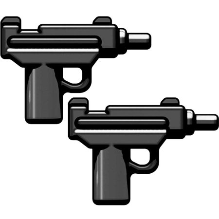 BrickArms Set of 2 Micro Uzi SMG [Black]
