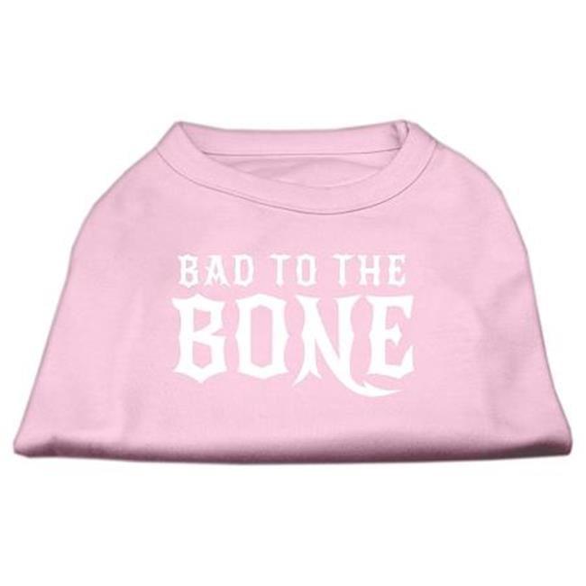 Bad To The Bone Dog Shirt Light Pink Med (12) - image 1 of 1
