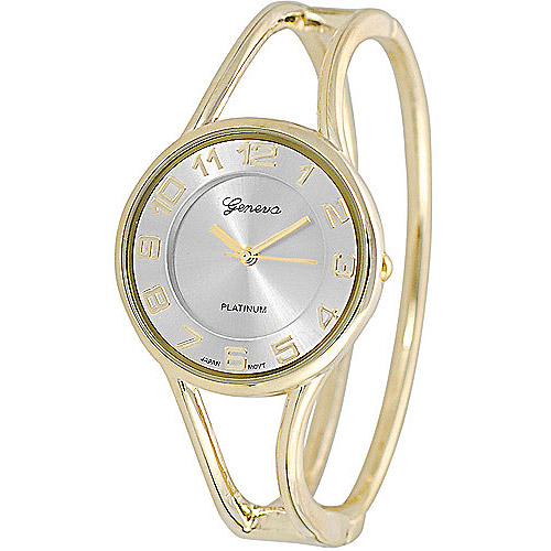 Brinley Co. Women's Polished Bangle Watch