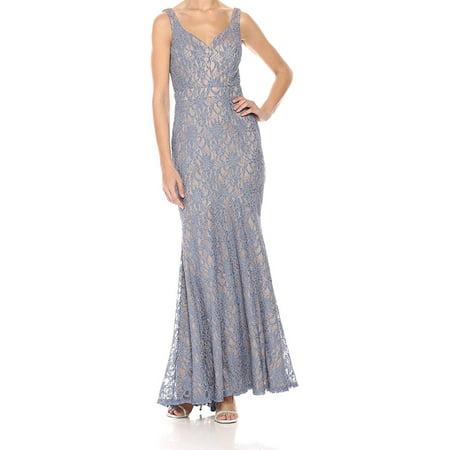 Women Dress Long Sweetheart Lace Sleeveless Gown 8