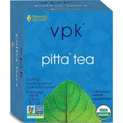 Maharishi Ayurveda Cooling Pitta Organic Herbal Tea, 16 Herbal Tea Bags, .96 oz (27.2 g)