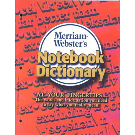 Merriam Websters Notebook Dictionary