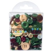 HB111 BUTTONS GALORE BUTTON TOTE 3 5OZ NOEL
