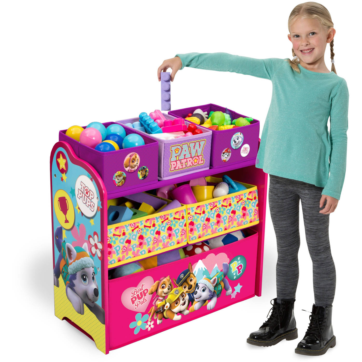 Nick Jr. PAW Patrol Skye and Everest Multi-Bin Toy Organizer