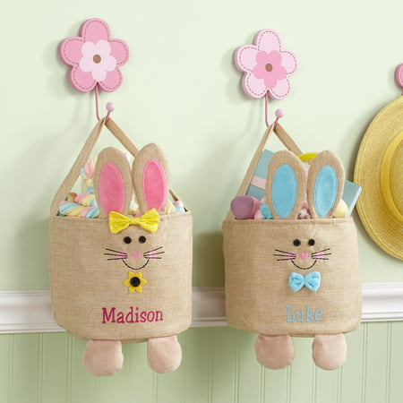 Personalized Jumpin' Bunny Burlap Easter -