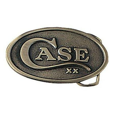 Embossed Brass Buckle - Oval Belt Buckle