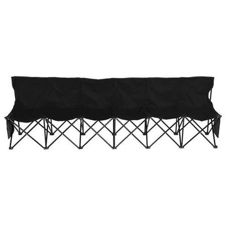 Portable 6 Seats Sport Sideline Folding Bench Soccer Team