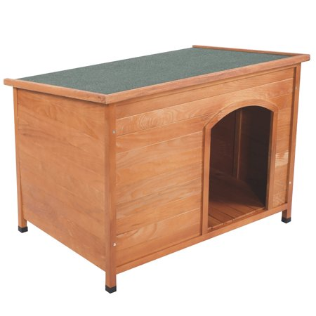 Ktaxon Home Outdoor Ground Wood Dog House Pet Shelter Large Kennel Weather Resistant