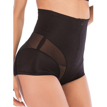 SAYFUT Women's Ultra Firm Slip Shapewear Zipper Double Control Tummy Panties Seamless Shorts Body Shaper M-2XL