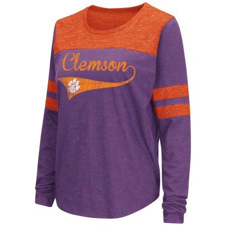 Womens Clemson Tigers Long Sleeve Tee Shirt - S