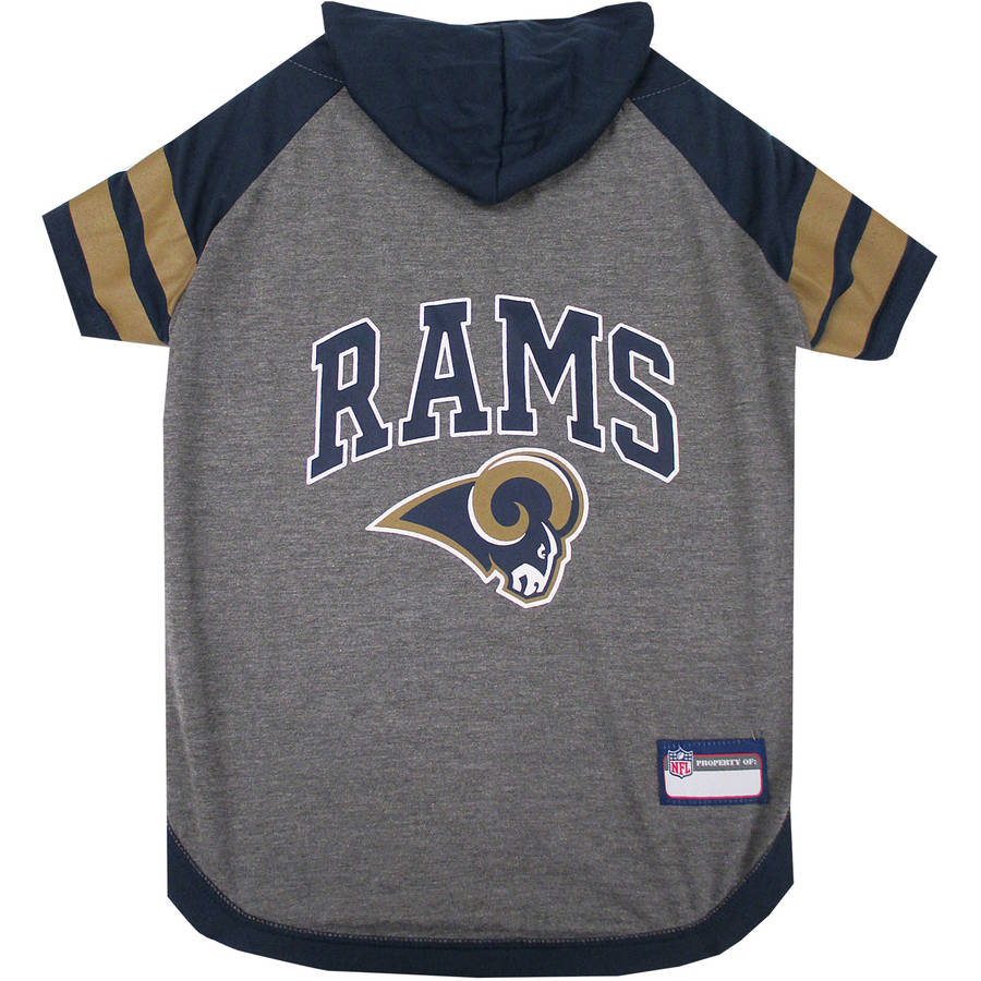 Pets First NFL Los Angeles Rams Pet Hoodie Tee Shirt