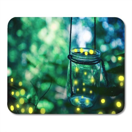 SIDONKU Green Bokeh Firefly in Jar Bugs Captured Catch Covering Dusk Mousepad Mouse Pad Mouse Mat 9x10 inch](Catch Fireflies)