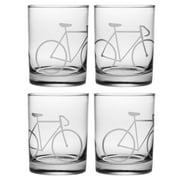 Susquehanna Glass Bicycle Rocks Glasses (Set of 4)