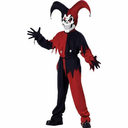 Jester Evil Child Halloween Costume