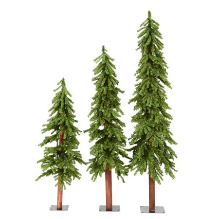 Vickerman Artificial Christmas Tree 4', 5', 6' Natural Triple Alpine Set of 3, 1469 Tips (Triple Tree Set)