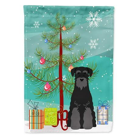 Schnauzer Standard (Merry Christmas Tree Standard Schnauzer Black Garden)